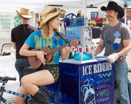 Ice Riders shaved ice at the LIC Food & Flea